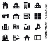 16 vector icon set   home ... | Shutterstock .eps vector #731366050