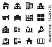 16 vector icon set   home ... | Shutterstock .eps vector #731366050