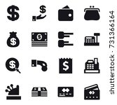 16 vector icon set   dollar ... | Shutterstock .eps vector #731366164