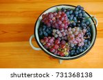 red and white grapes on wooden... | Shutterstock . vector #731368138