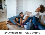 family spending a quality time...   Shutterstock . vector #731369848