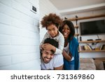 african american family... | Shutterstock . vector #731369860