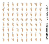 hand gestures for touch screen. | Shutterstock . vector #731378314