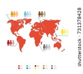 world population statistic ... | Shutterstock . vector #731378428