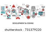 modern flat editable line...   Shutterstock .eps vector #731379220