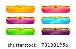 beautiful colorful long... | Shutterstock .eps vector #731381956