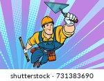 superhero builder professional... | Shutterstock .eps vector #731383690