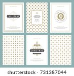 merry christmas greeting cards... | Shutterstock .eps vector #731387044