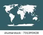 world map with countries... | Shutterstock .eps vector #731393428