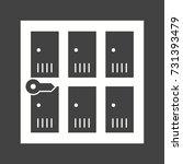 lockers | Shutterstock .eps vector #731393479