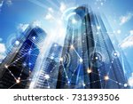 modern skyscrapers of madrid... | Shutterstock . vector #731393506