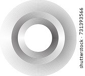 lines in circle form . spiral... | Shutterstock .eps vector #731393566