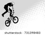bmx cyclist sketch on abstract... | Shutterstock .eps vector #731398483