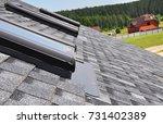 close up on attic skylight...   Shutterstock . vector #731402389