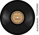 gramophone vinyl lp record. old ... | Shutterstock .eps vector #731402860
