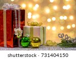 christmas and new year's... | Shutterstock . vector #731404150