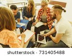 team collaboration meeting... | Shutterstock . vector #731405488