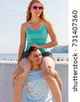 relationship goals  summer love ... | Shutterstock . vector #731407360