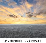 asphalt road circuit and sky... | Shutterstock . vector #731409154