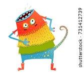 freaky creature monster in... | Shutterstock . vector #731412739
