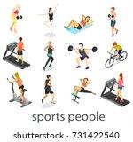 isometric interior of gym.... | Shutterstock . vector #731422540