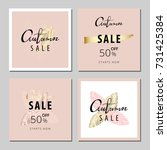 set of pastel universal gentle...   Shutterstock .eps vector #731425384