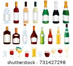 various isolated alcohol... | Shutterstock .eps vector #731427298
