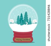 christmas snow globe vector  | Shutterstock .eps vector #731428846
