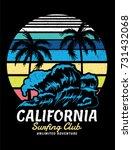 california vector illustration... | Shutterstock .eps vector #731432068