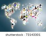 world map made of a lot photos | Shutterstock . vector #73143301