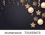 merry christmas and 2018 new... | Shutterstock .eps vector #731433673