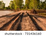 Dirt Road With A Hole Along The ...