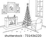 living room graphic christmas...