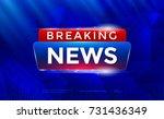 breaking news background. tv... | Shutterstock .eps vector #731436349