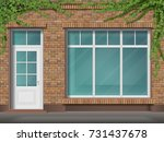 store front with large... | Shutterstock .eps vector #731437678