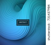abstract 3d twisted background. ... | Shutterstock .eps vector #731437984