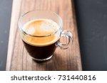 glass of americano espresso...