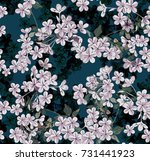 beautiful and handy floral... | Shutterstock .eps vector #731441923