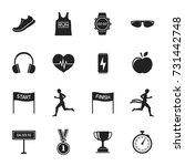 big stock of sports  running... | Shutterstock .eps vector #731442748