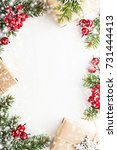 christmas background with xmas... | Shutterstock . vector #731444413