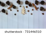 christmas decoration on the... | Shutterstock . vector #731446510