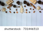 christmas decoration on the... | Shutterstock . vector #731446513