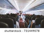passenger seat  interior of... | Shutterstock . vector #731449078