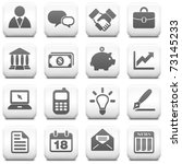 economy icon on square black... | Shutterstock .eps vector #73145233