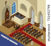 priestly ministry isometric... | Shutterstock .eps vector #731452798