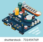 colored semiconductor... | Shutterstock .eps vector #731454769