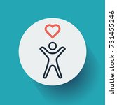 health icon. vector ...   Shutterstock .eps vector #731455246