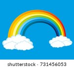 rainbow and clouds. | Shutterstock .eps vector #731456053