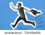 razy hipster guy emotions.... | Shutterstock . vector #731456650