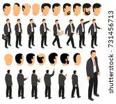 businessman character creation... | Shutterstock .eps vector #731456713
